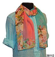 Весенний шифоновый шарф Кармен (код: 38112)