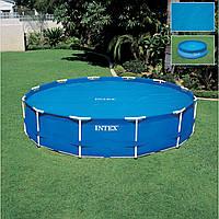 Тент для бассейна Intex 29022: диаметр 366 см, ПВХ с пузырьками воздуха, сумка 37х34х22 см