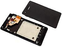 Дисплей для Sony LT25i Xperia V + touchscreen. чрный. с передней панелью