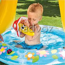 Детский надувной бассейн с навесом грибок 57114, фото 2