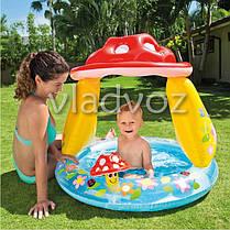 Детский надувной бассейн с навесом грибок 57114, фото 3