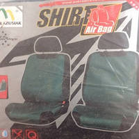 Майки сидения передние  SHIPT зелёные х/б с карманом сзади