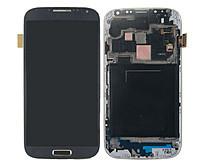 Дисплей для Samsung i9505 Galaxy S4 + touchscreen. синий. с передней панелью