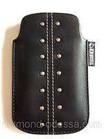 Универсальный чехол-карман кожаный для телефонов