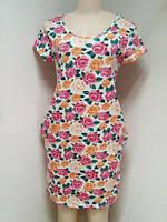 Платье женское трикотажное с принтом Merve Moda