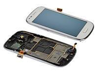 Дисплей для Samsung i8190 Galaxy S3 mini + touchscreen. белый. с передней панелью