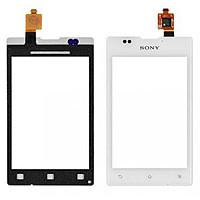 Тачскрин для Sony C1503 Xperia E/C1504/C1505/C1604/C1605. белый