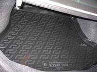 Резиновый коврик в багажник Nissan Tiida SD 06- Lada Locer (Локер)