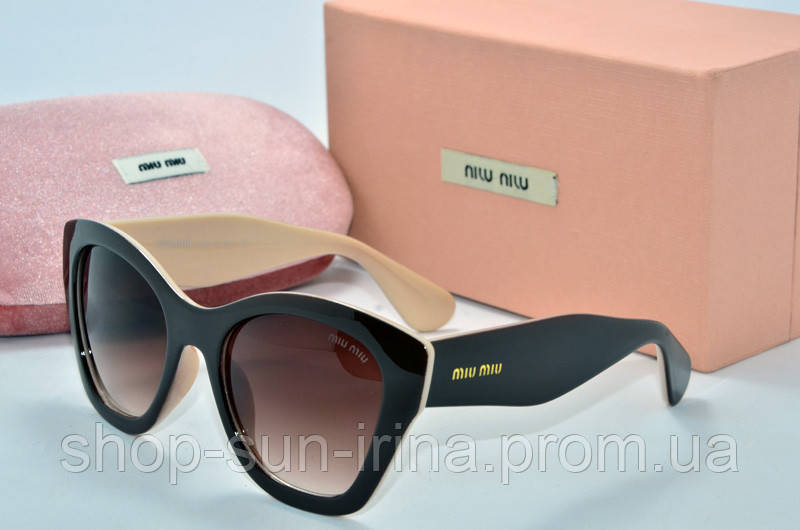 c027bdd01207 Солнцезащитные очки Миу Миу коричневые с бежевым - SunLike в Киеве