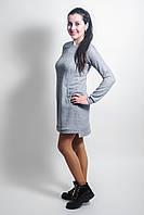 Повседневное трикотажное платье для беременных и кормящих мам светлый меланж, M