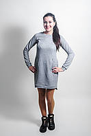 Повседневное трикотажное платье для беременных и кормящих мам светлый меланж, XL