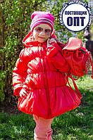 Демисезонная курточка - пальто присборка для девочки, фото 1