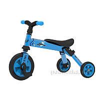 Складной трехколесный велосипед (2в1) TCV 36768 синий