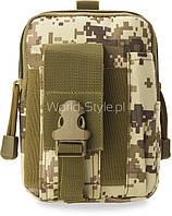 05-19 Камуфляжная мужская поясная сумка модель Kuj
