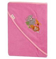 Детское полотенце с капюшоном Safari Tega Baby, 100х100 розовое