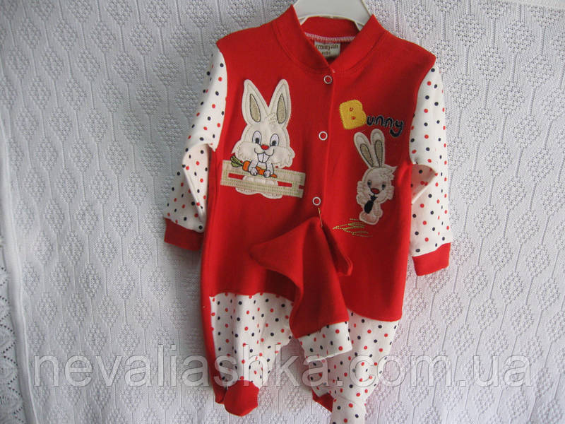 """Боди для новорожденных """"Bunny""""р 62-68-74, фото 1"""