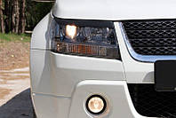 Накладки на передние фары (реснички) Suzuki Grand Vitara 2008-2012 г.в.(Сузуки Гранд Витара)