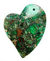 Красивый кулон из камня варисцит