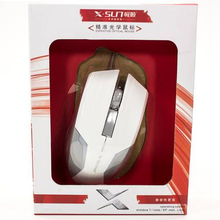 Мышь компьютерная игровая X - SUN Harricane X 380 проводная мышка для ноутбука (Белый), фото 2