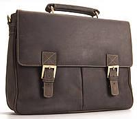 Мужской кожаный портфель Visconti 18716 темно-коричневый