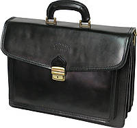 Черный мужской портфель из качественной кожи Rovicky AWR-3 черный, коричневый