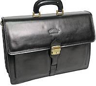 Деловой портфель из натуральной кожи Rovicky AWR-4 черный