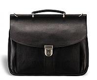 Мужской кожаный портфель Blamont Bn017A черный