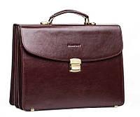 Мужской кожаный портфель Blamont Bn053R красно-коричневый