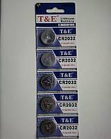 Батарейка таблетка для напольных электронных весов T@E CR2032, 3V Lithium - 1 батарейка.