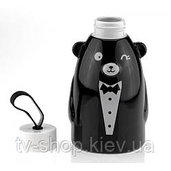 Термобутылка  керамическая Gentle Bear,550 мл (черный,белый)
