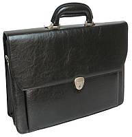 Мужской деловой портфель из эко кожи 4U CAVALDI черный B027C2