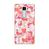 Чехол с рисунком для LG K7 X210 Фламинго