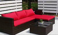 Софа диван MILANO из ротанга с подушками, фото 1