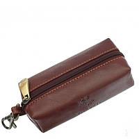 Кожаная ключница Visconti MZ18-PRATO коричневая