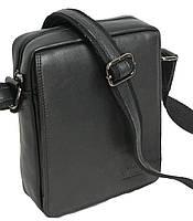 Мужская сумка на плечо из натуральной кожи Always Wild 771 NDM черная 18х24х8 см.