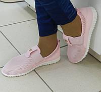 Женские мокасины в сетку, цвет-розовый, мягкие и легкие
