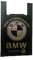 Пакеты майка BMW 36 х 58 см черные