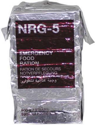 Экстренный пищевой рацион MSI NRG-5, 500 г (9 брикетов) 40331, фото 2