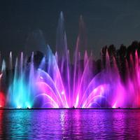 Лазерное шоу на воде - водный экран