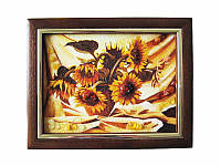 Картина из янтаря Подсолнухи (Картины и иконы из янтаря)