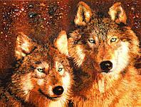 Картина из янтаря Волки (Картины и иконы из янтаря)