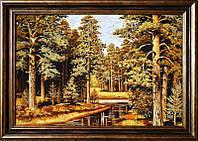 Картина из янтаря Лес (Картины и иконы из янтаря)
