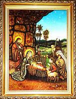 Икона из янтаря Рождение Иисуса (Картины и иконы из янтаря)