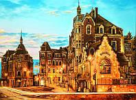 Картина из янтаря Вечерний город (Картины и иконы из янтаря)