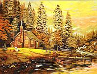 Картина из янтаря Лодка (Картины и иконы из янтаря)