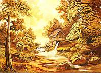 Картина из янтаря Домик на краю (Картины и иконы из янтаря)