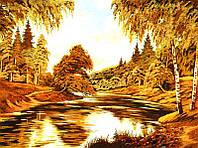 Картина из янтаря Речка (Картины и иконы из янтаря)