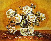 Картина из янтаря Белые розы (Картины и иконы из янтаря)