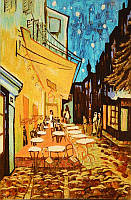 Картина из янтаря Летнее кафе (Картины и иконы из янтаря)