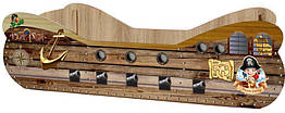 Кровать детская ДСП Пиратский корабль Viorina-Deko Стандартная